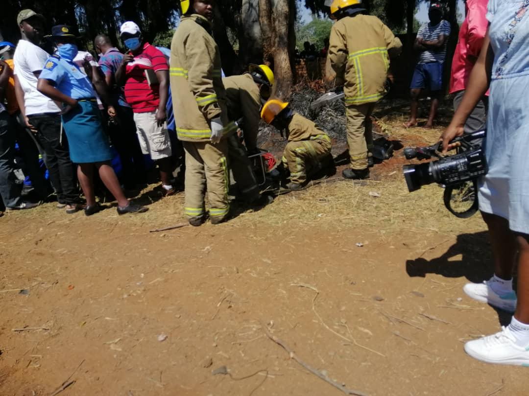 Fire Brigade at Ginimbi Accident Scene