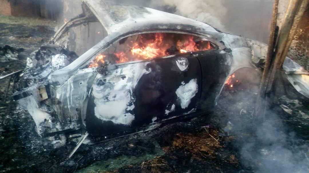 Burning Car Ginimbi Car Accident