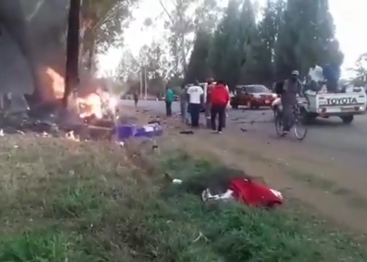 People At Scene Of Ginimbi Car Accident