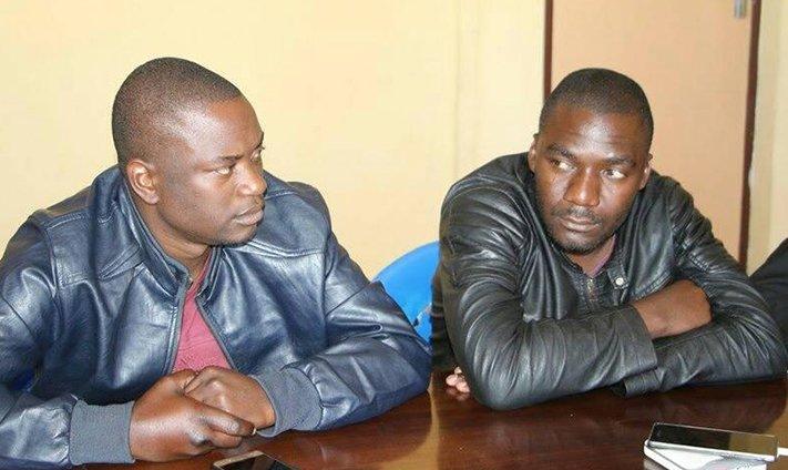 Godfrey Kurauone and Stephen Sarkozy Chuma (right)