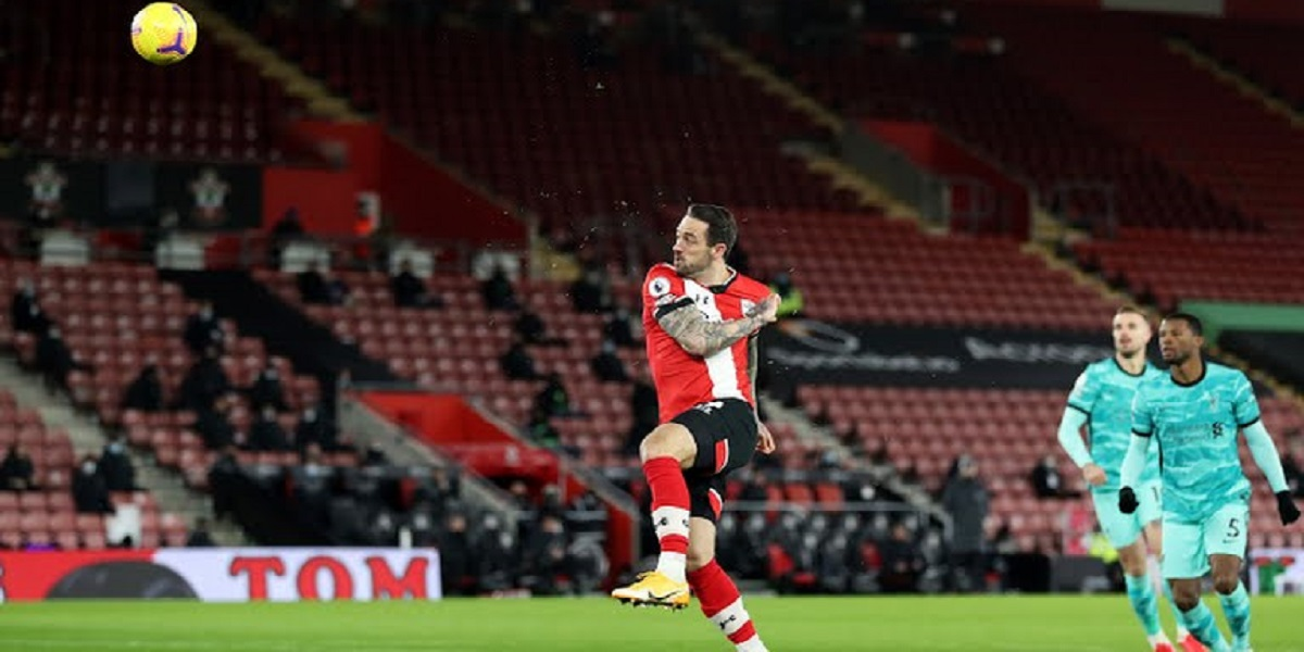 DANNY INGS SCORES AGAINST LIVERPOOL
