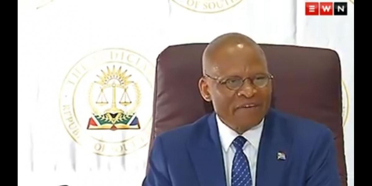 MOGOENG MOGOENG SA CHIEF JUSTICE long leave