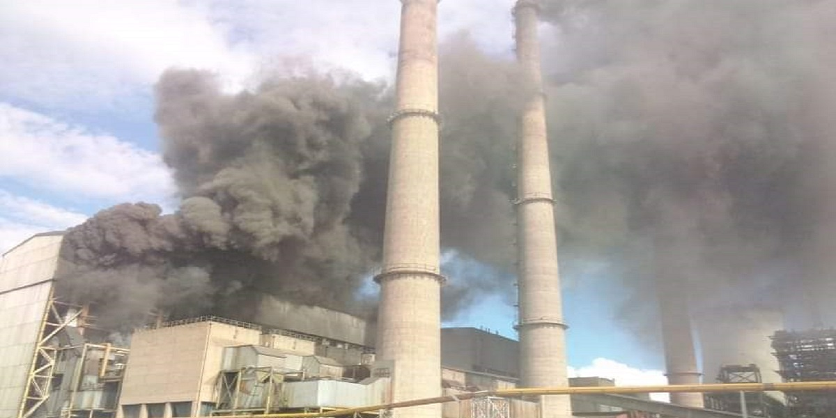 Hwange Power Station Unit 1 catches fire