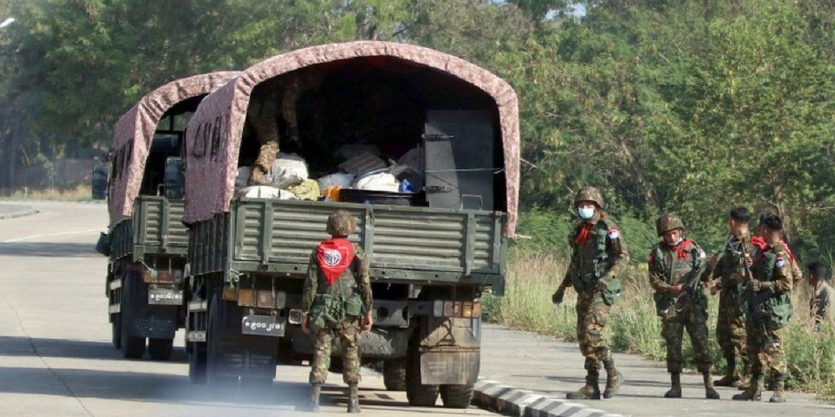 MILITARY SOLDIERS MYANMAR COUP