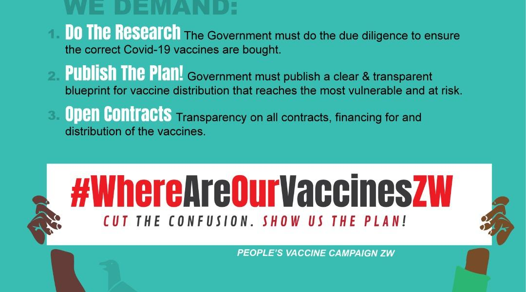 Zim Rights Flier on vaccines Roll out