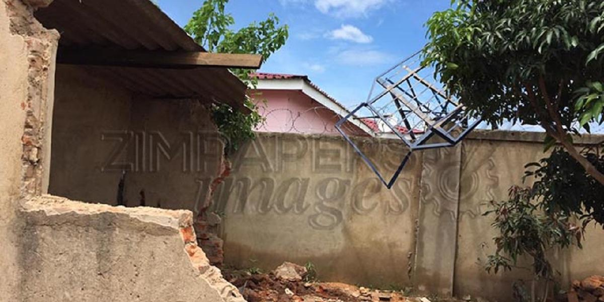 WATER TANK COLLAPSES DESTROYS COTTAGE