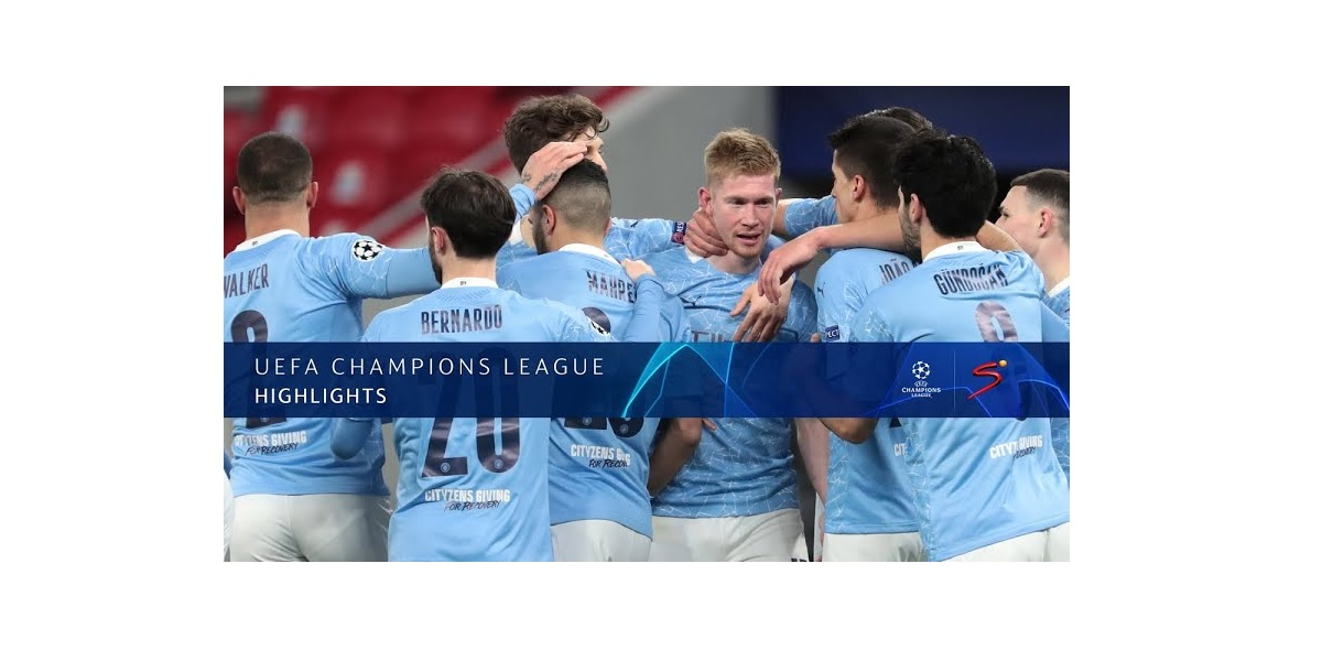 Manchester City Celebrate Kevin Debruyne goal in UEFA Champions League