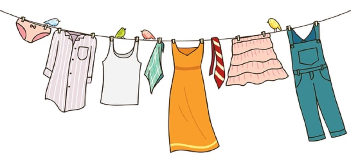 CLOTHES WASHING LINE NEIGHBOUR