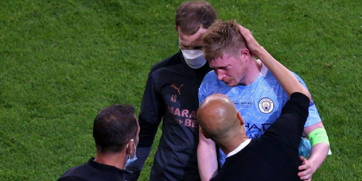 KEVIN DE BRUYNE UCL Acute Nose Fracture