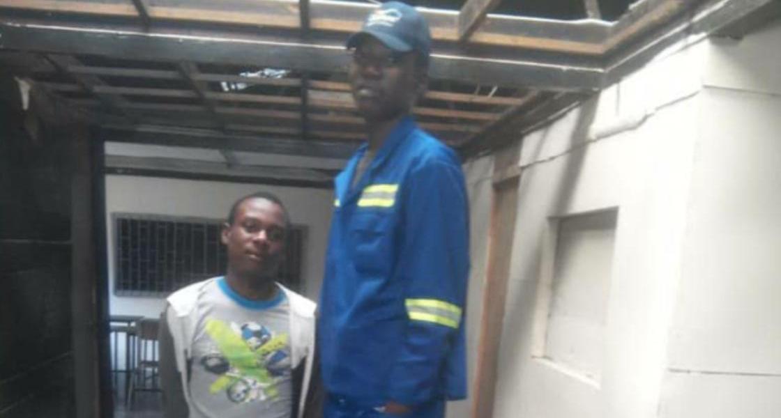 Mutare's tallest person, Joseph Midzi