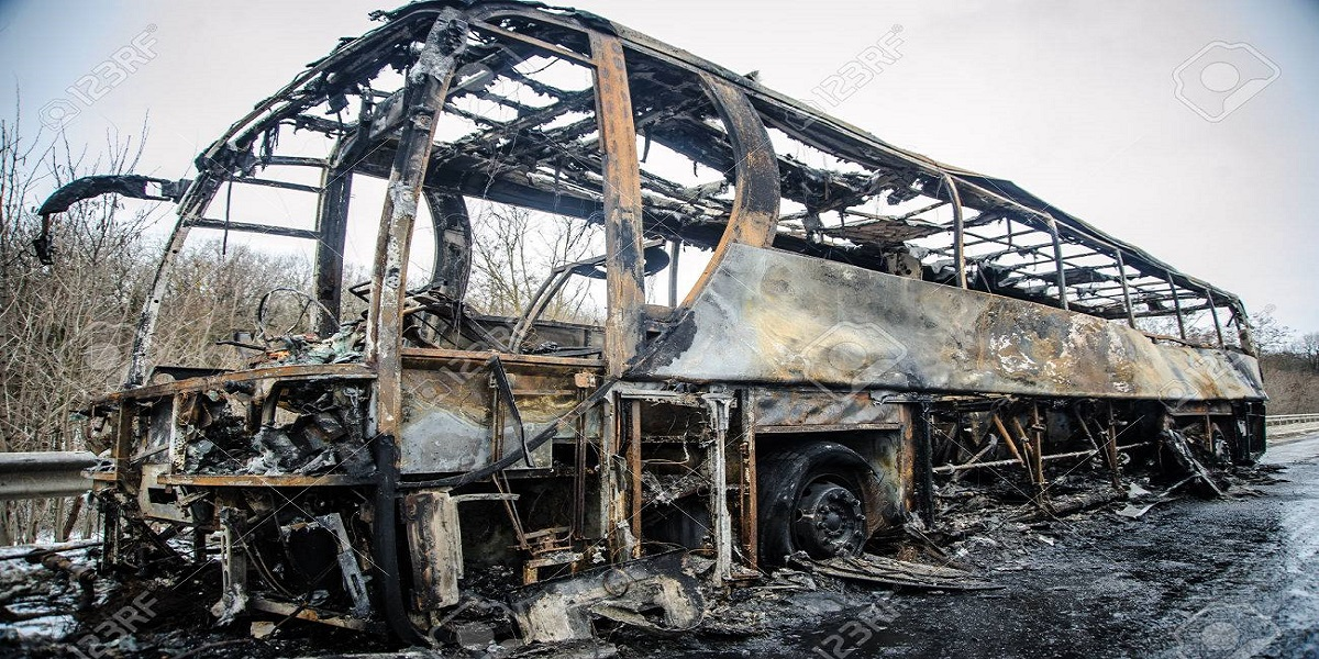 South Africa Unrest buses set on fire